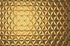 Abstract Golden Geometric Triangle Background 3d Rendering. Golden Geometric Triangle 3d render royalty free illustration