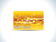 Abstract golden gift card Stock Image
