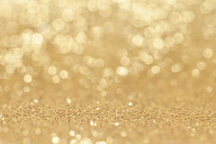 Abstract golden glitter background Stock Photography