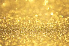 Abstract golden glitter Royalty Free Stock Photo