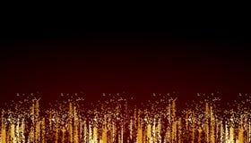 Abstract golden glitter effect background vector illustration
