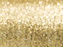 Abstract golden glitter soft focus background Stock Photo