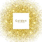 Abstract golden glitter sparkles frame. Vector vector illustration