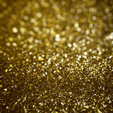 Abstract golden glitters background Stock Photography