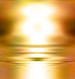Abstract golden glowing sunset Royalty Free Stock Photo