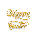Abstract Golden Hand Written Easter Phrase Royalty Free Stock Image