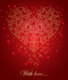 Abstract golden heart Stock Photography
