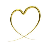 Abstract golden heart Stock Photo