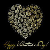 Abstract Golden Heart. Valentine S Day Greet Stock Image