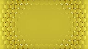 Free Abstract Golden Hexagons Geometric Surface. Stock Photo - 225833420