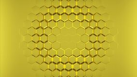 Free Abstract Golden Hexagons Geometric Surface. Royalty Free Stock Images - 225833429