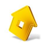 Abstract golden house Stock Photos