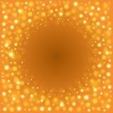 Abstract Golden Light Bokeh Background Vector Illustration. Magic Gold Defocused Glitter Sparkles Royalty Free Stock Photo