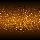 Abstract Golden Light Bokeh Background Vector Illustration. Magic Gold Defocused Glitter Sparkles royalty free illustration