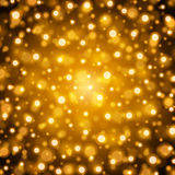 Abstract Golden Light Bokeh Background Vector Illustration. Magic Gold Defocused Glitter Sparkles. Good for promotion materials, Brochures, Banners. Abstract Royalty Free Stock Photography