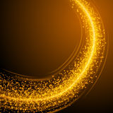Abstract Golden Light Bokeh Background Vector Illustration. Magic Gold Defocused Glitter Sparkles. Good for promotion materials, Brochures, Banners. Abstract Stock Image