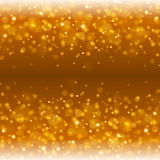 Abstract Golden Light Bokeh Background Vector Illustration. Magic Gold Defocused Glitter Sparkles. Good for promotion materials, Brochures, Banners. Abstract royalty free illustration