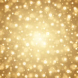 Abstract Golden Light Bokeh Background Vector Illustration. Magic Gold Defocused Glitter Sparkles. Good for promotion materials, Brochures, Banners. Abstract Stock Images
