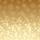 Abstract Golden Light Bokeh Background Vector Illustration. Magic Gold Defocused Glitter Sparkles. Good for promotion materials, Brochures, Banners. Abstract Royalty Free Stock Photos