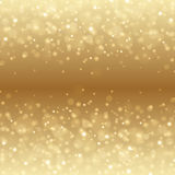 Abstract Golden Light Bokeh Background Vector Illustration. Magic Gold Defocused Glitter Sparkles. Good for promotion materials, Brochures, Banners. Abstract stock illustration