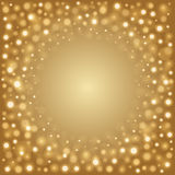 Abstract Golden Light Bokeh Background Vector Illustration. Magic Gold Defocused Glitter Sparkles. Good for promotion materials, Brochures, Banners. Abstract Stock Photo
