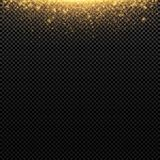 Abstract golden lights fly on a transparent background. Magical gold dust and glare. Festive background. Golden backlight. Vector. Illustration royalty free illustration