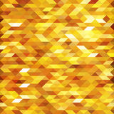 Abstract golden lowpoly designed vector background. Polygonal elements backdrop. Royalty Free Stock Image
