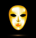 Abstract golden mask Stock Photography