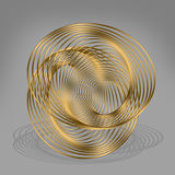 Abstract golden metal curves . Stock Image
