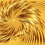 Abstract golden metallic background with swirl Royalty Free Stock Photography