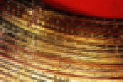 Abstract golden mosaic block Royalty Free Stock Photo