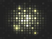 Abstract  golden mosaic pixel background. Stock Photos