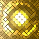 Abstract golden mosaic vector background. Abstract golden mosaic vector illustration. light design  background Royalty Free Stock Photos