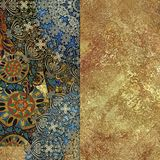 Abstract motley patterned and golden backgraund. Abstract golden motley patterned and golden backgraund shabby royalty free illustration