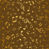 Abstract golden music notes seamless pattern background vector illustration for your design Stock Photo