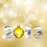 Abstract golden new year background Stock Photos