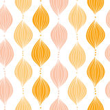 Abstract golden ogee seamless pattern background. Vector abstract golden ogee seamless pattern background with hand drawn elements Royalty Free Stock Photography
