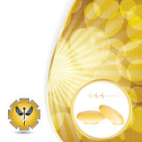 Abstract golden omega 3 medical background Royalty Free Stock Photos
