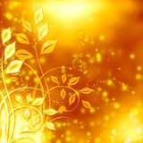 Abstract golden ornate background. Abstract golden floral ornate background stock illustration