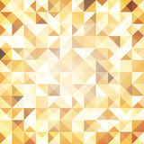 Abstract Golden pattern of triangles and squares. Luxurious metallic luster. Seamless texture. Stock Images