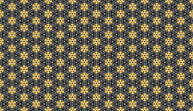 Abstract golden patterns background wallpaper. Abstract golden patterns wallpaper patterns on black background Stock Photo