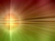 Abstract golden planet Royalty Free Stock Photography