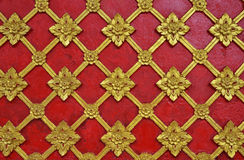 Abstract golden red lai Thai style Royalty Free Stock Image