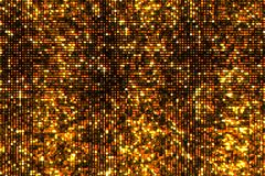 Abstract golden reflectors and sparkles with glitter light particles shining gold stock photography