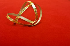 Abstract Golden Ribbon Royalty Free Stock Photography