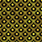 Abstract golden scaled seamless vector pattern Stock Photography