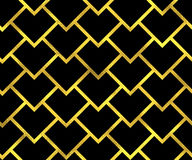 Abstract golden scaled seamless vector pattern Stock Images