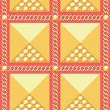 Abstract golden seamless pattern. With chains and rhinestones vector illustration vector illustration