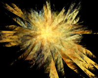 Abstract Golden Shatter Explosion Background Stock Photography