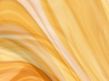 Abstract golden silk or smoke Royalty Free Stock Images